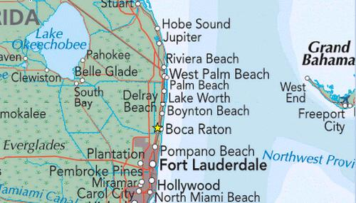 Map Of Florida Showing Boca Raton.Boca Raton Map Florida Maps