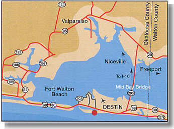 Destin Fl Map Florida Maps